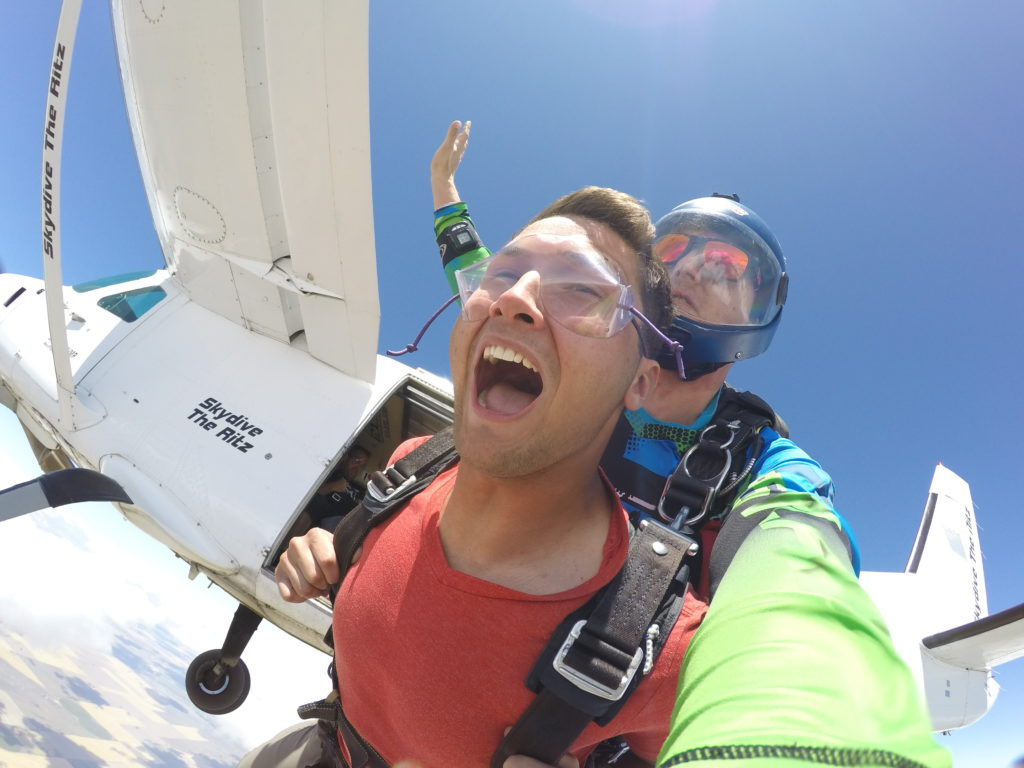 Tandem Skydive with Outside Video